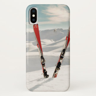 Capa Para iPhone X Esquis vermelhos