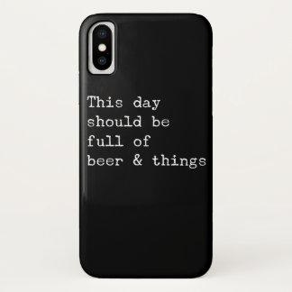Capa Para iPhone X Este dia deve ser cerveja e coisas