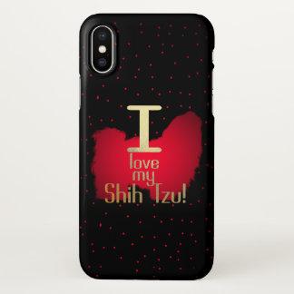 Capa Para iPhone X Eu amo meu Shih Tzu! caso do iphone X