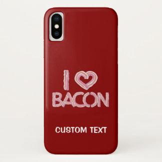 Capa Para iPhone X Eu amo o bacon