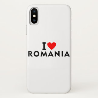 Capa Para iPhone X Eu amo o país de Romania como o turismo do viagem