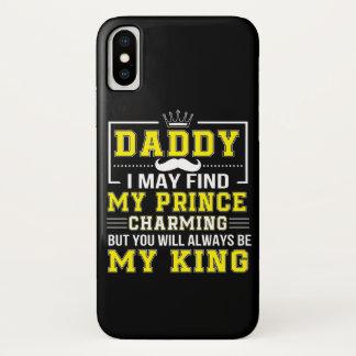 Capa Para iPhone X Eu encontro o príncipe encantar você sempre pai