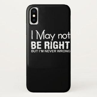 Capa Para iPhone X Eu não endireito o provérbio Im engraçado nunca