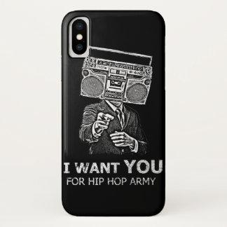 Capa Para iPhone X Eu quero-o para o exército do hip-hop