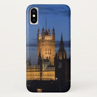 Capa Para iPhone X Europa, INGLATERRA, Londres: Casas do parlamento/