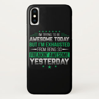 Capa Para iPhone X Exaustão impressionante de hoje do provérbio