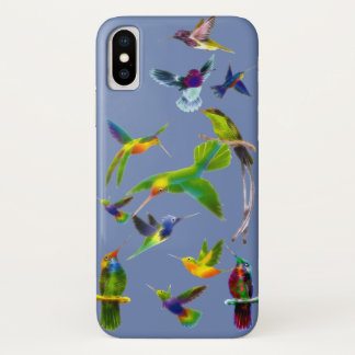Capa Para iPhone X Exemplo do desenhista de Birdlover dos colibris