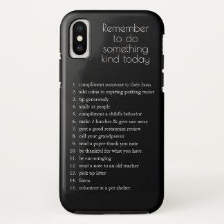 Capa Para iPhone X Faça algo ideias amáveis de hoje, VOCÊ escolhem a