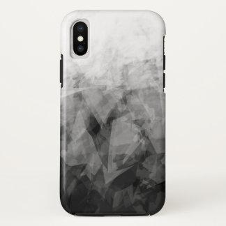 Capa Para iPhone X Facetas abstratas de B&W - caso do iPhone X de