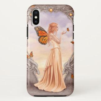 Capa Para iPhone X Fada citrina da borboleta de Birthstone