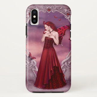 Capa Para iPhone X Fada da borboleta de Birthstone da grandada