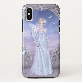Capa Para iPhone X Fada da borboleta de Birthstone do diamante
