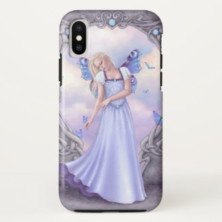 Capa Para iPhone X Fada da borboleta de Birthstone do Opal