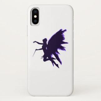 Capa Para iPhone X Fada da fantasia com asas da pena