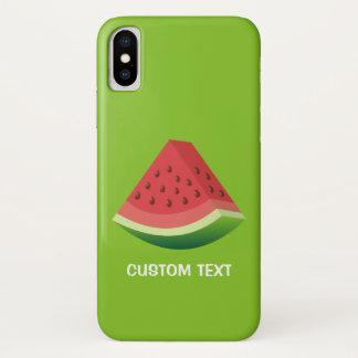 Capa Para iPhone X Fatia da melancia