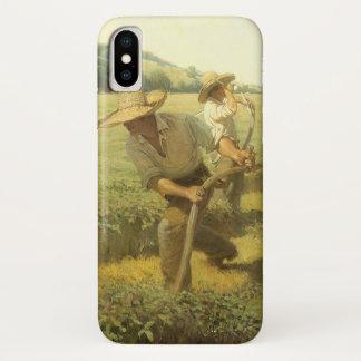 Capa Para iPhone X Fazendeiros do vintage, de volta à fazenda por NC