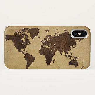 Capa Para iPhone X Feche acima do mapa do mundo antigo 3