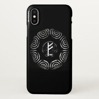 Capa Para iPhone X ☼Fehu - Rune da sorte & do Prosperity☼