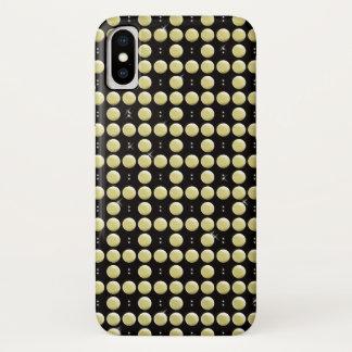 Capa Para iPhone X Festões frisadas do ouro de cristal