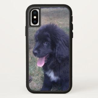Capa Para iPhone X Filhote de cachorro bonito de Newfie (raça do cão