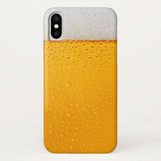 Capa Para iPhone X Fim-acima do vidro de cerveja engraçado