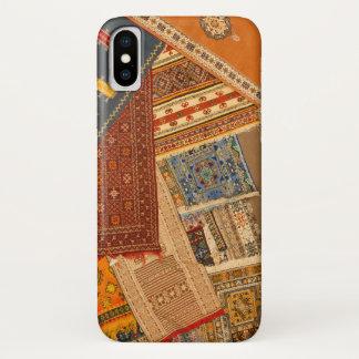 Capa Para iPhone X Fim da colagem do tapete acima