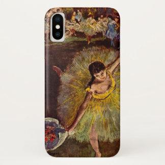 Capa Para iPhone X Fim de um Arabesque por Edgar Degas, balé do