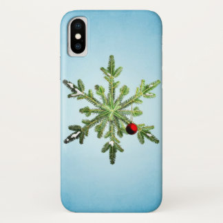 Capa Para iPhone X floco de neve, feriado, Natal, colagem, xmas,