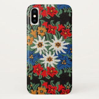 Capa Para iPhone X Flor alpina suíça de Edelweiss