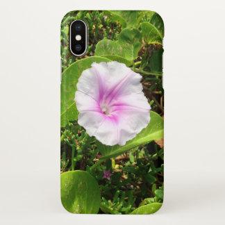 Capa Para iPhone X Flor cor-de-rosa da corriola, Havaí