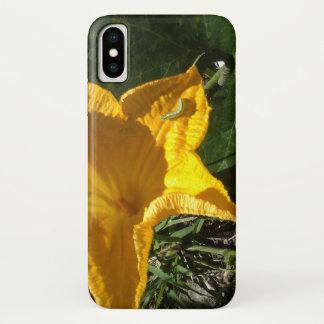 CAPA PARA iPhone X  FLOR DA ABÓBORA
