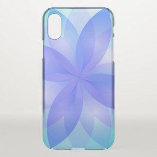 Capa Para iPhone X flor de Lotus abstrata do caso do iPhone X