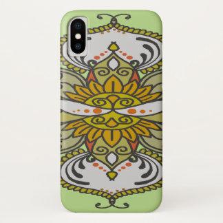 Capa Para iPhone X flor étnica abstrata