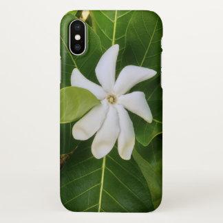 Capa Para iPhone X Flor havaiana do jasmim de Pikake