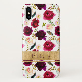 Capa Para iPhone X Floral boémio, caso do iPhone X da case mate das