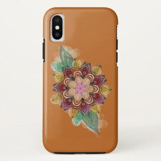 Capa Para iPhone X Floral colorido da mandala