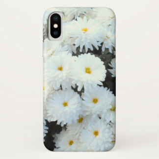 Capa Para iPhone X Flores brancas do crisântemo