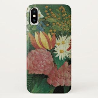 Capa Para iPhone X Flores com a hera por Henri Rousseau, vintage