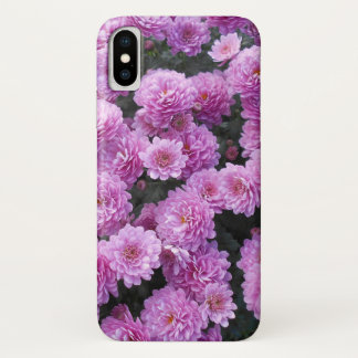 Capa Para iPhone X Flores cor-de-rosa do crisântemo
