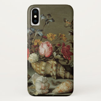 Capa Para iPhone X Flores, escudos e Inseto Balthasar camionete der