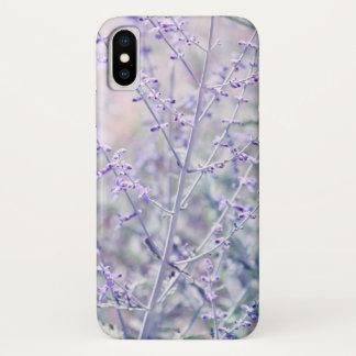 Capa Para iPhone X Flores macias da lavanda