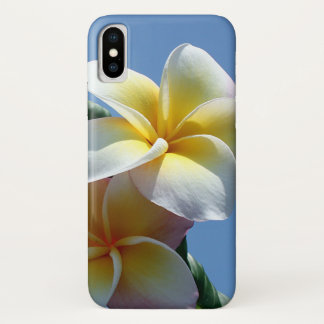 Capa Para iPhone X Flores Showy do Frangipani do Plumeria