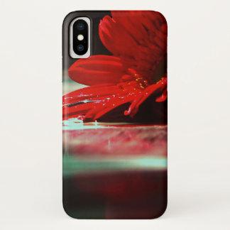 Capa Para iPhone X Flores vermelhas do Gerbera da margarida