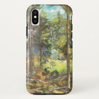 Capa Para iPhone X Floresta do pinho