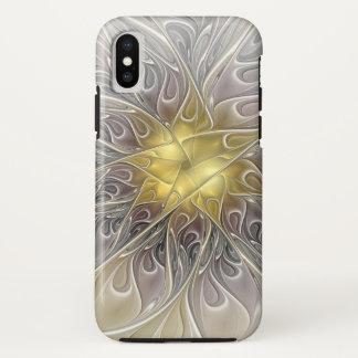 Capa Para iPhone X Flourish com a flor abstrata moderna do Fractal do