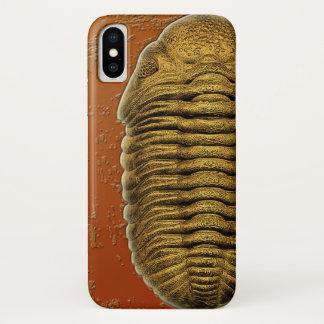 Capa Para iPhone X Fóssil Trilobite de Phacops Rana Crassituberculata