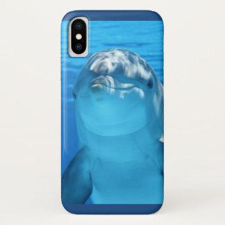 Capa Para iPhone X Foto amigável do golfinho