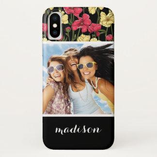 Capa Para iPhone X Foto feita sob encomenda & teste padrão floral