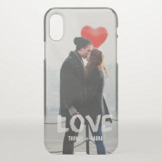 Capa Para iPhone X Foto pintado mão Overlay dos casais amor moderno
