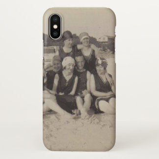 Capa Para iPhone X Fotografia 1920 do vintage do grupo de praia